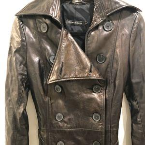 Mackage  Black Leather coat, size P/S LIKE NEW